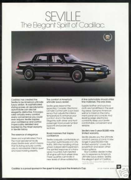 Black Cadillac Seville Photo Vintage Car (1987)