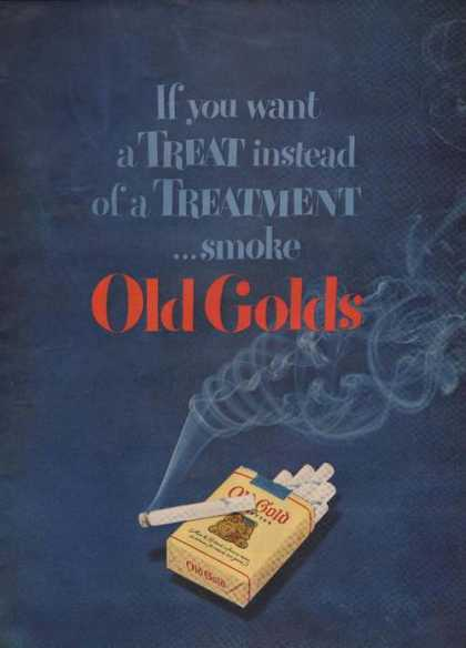 Old Gold Cigarette Want a Treat (1949)