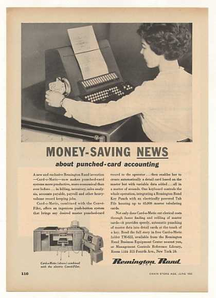 &#8217;52 Remington Rand Card-o-Matic Punched Card Machine (1952)