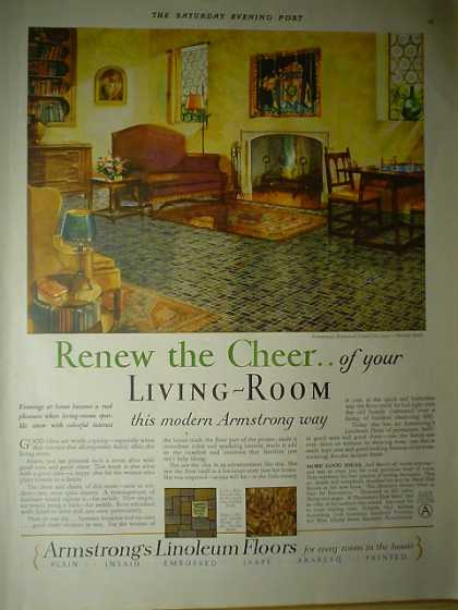 Armstrong Linoleum Floors Renew the cheer (1928)