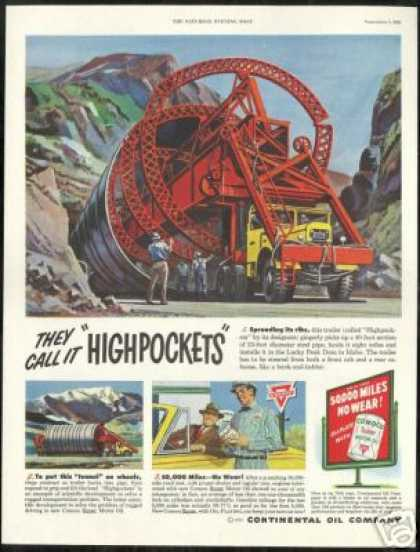 Highpocket Truck Trailer Idaho Conoco (1951)