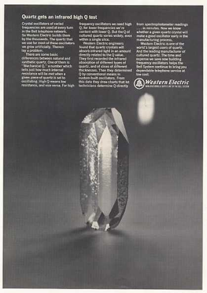Bell Telephone Western Electric Quartz Crystal (1967)