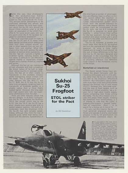 Sukhoi Su-25 Frogfoot STOL Aircraft 4-Page Article (1985)