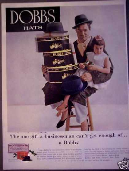 Dobbs Mens Hats Father With Little Girl (1956)