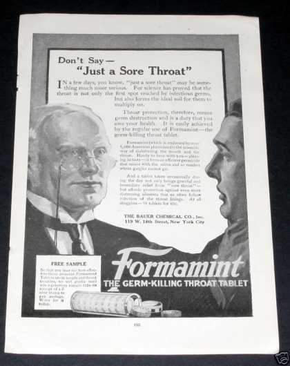Formamint Throat Tablet, Bauer (1919)
