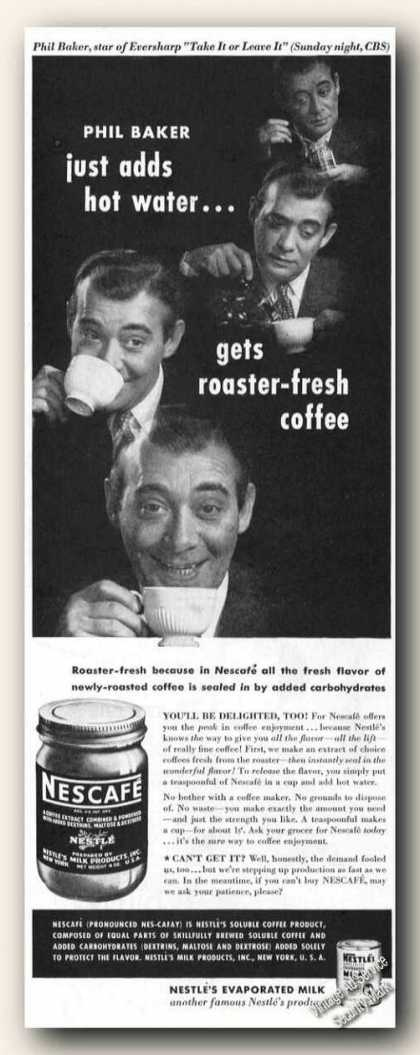 Phil Baker Photos Nescafe Instant Coffee (1946)