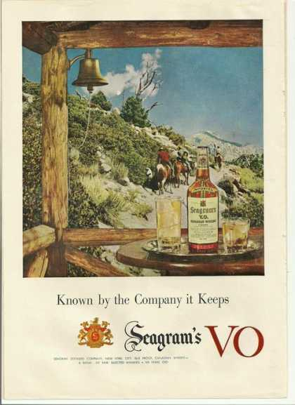 Seagrams Vo Canadian Whiskey (1955)
