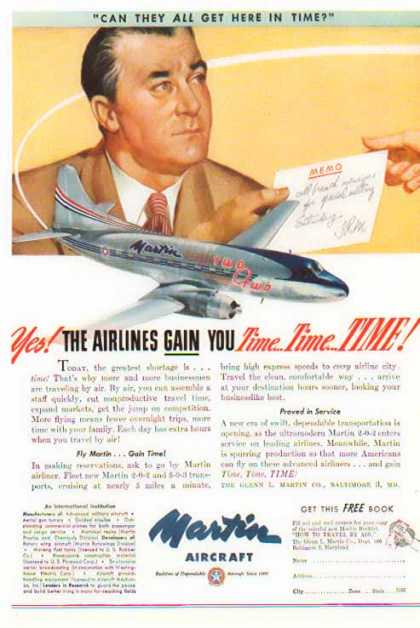 Martin Aircraft – Fly Martin Gain Time (1947)