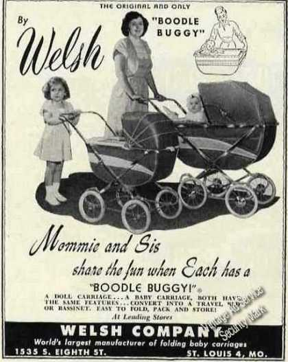 "Welsh ""Boodle Buggy"" Photos Mommy & Sis (1950)"