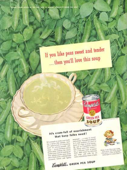 Campbell's Green Pea Soup (1948)