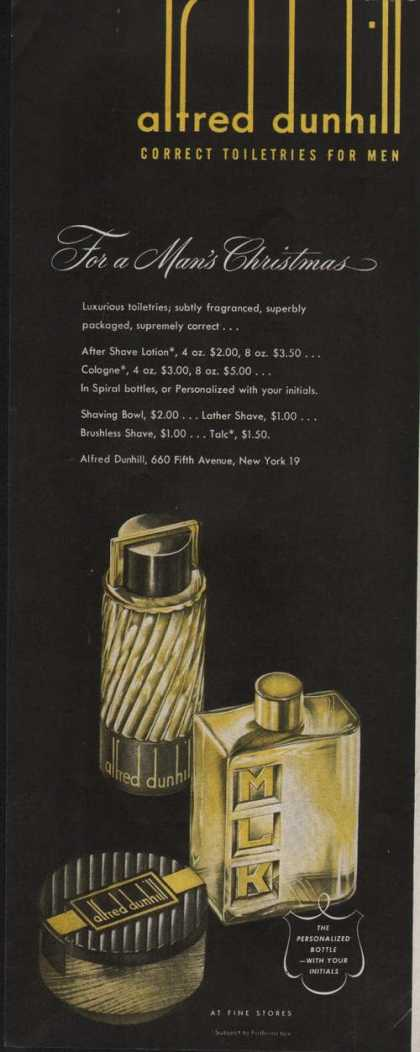 Alfred Dunhill Toiletries for Men (1947)