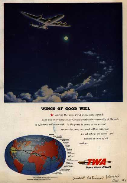 Trans World Airline – Wings Of Good Will (1947)