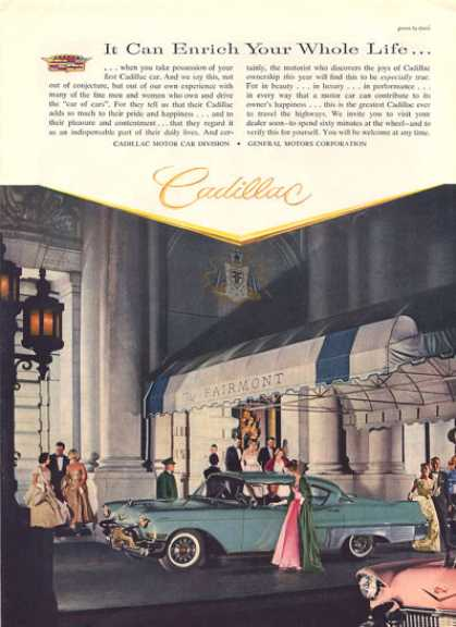 Cadillac at the Fairmont Hotel Print (1957)