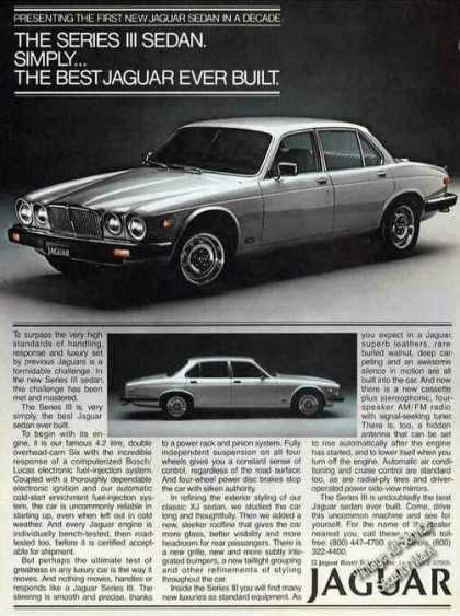 "Jaguar Series Iii Sedan ""Best Ever Built"" (1980)"