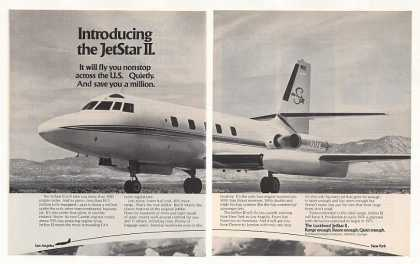 Lockheed JetStar II Airplane Aircraft Photo 2-P (1973)