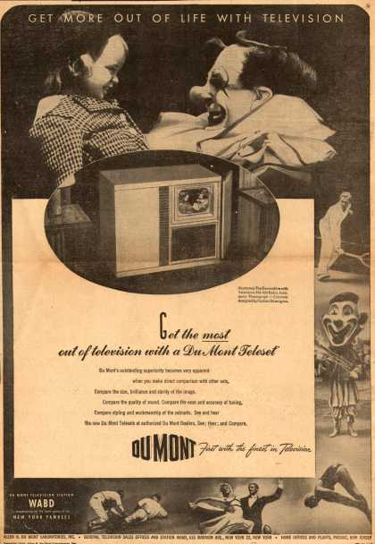 Allen B. DuMont Laboratorie's various – Get more out of life with television (1947)