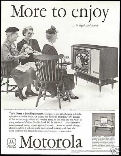 Motorola TV Television Tea V Party Photo (1958)
