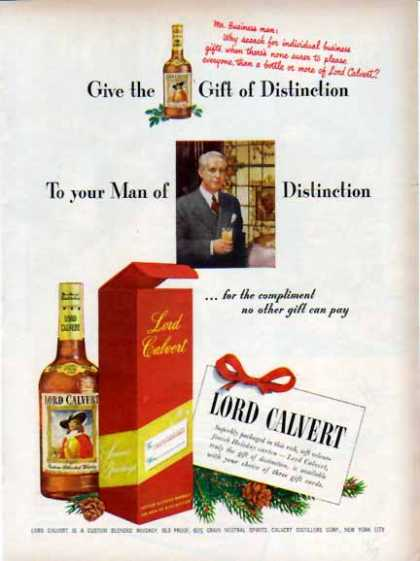 Lord Calvert Whiskey Holiday – Gift of Distinction (1948)