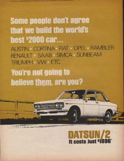 Datsun Two Door Car (1969)