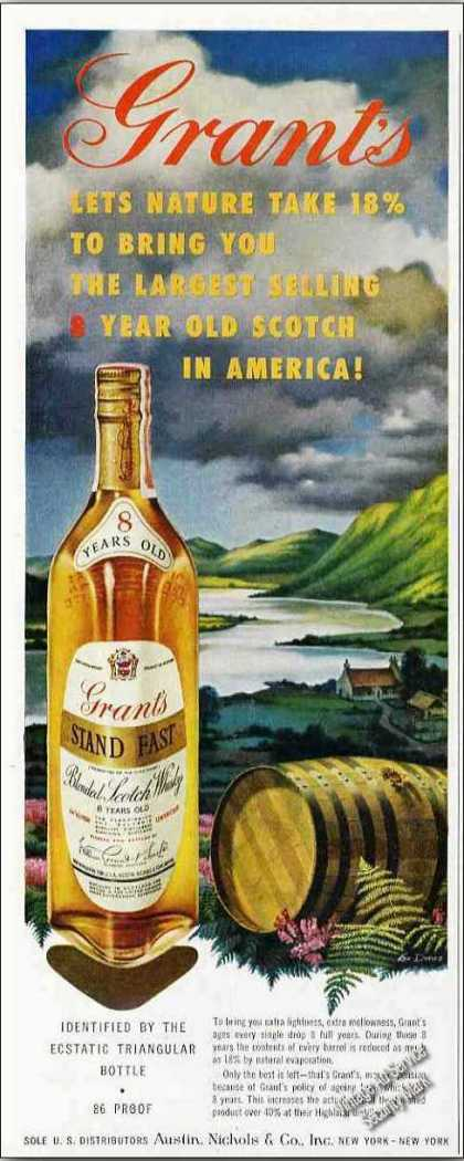 "Grant's Scotch ""Let's Nature Take 18%"" (1959)"