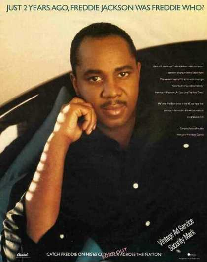 Nice Large Freddie Jackson Photo Music (1987)