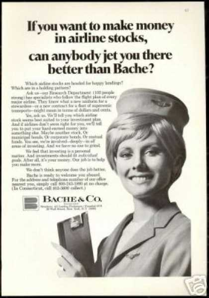 Bache & Co Financial Pretty Stewardess (1969)