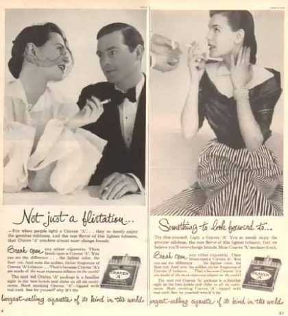 Craven A's Virgina Cigarettes Ads – Set of Two (1951)