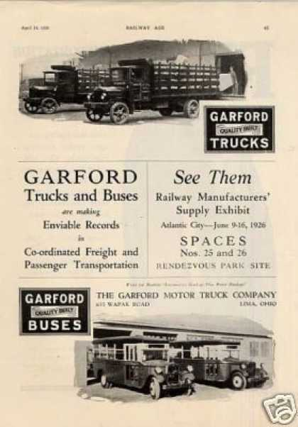 Garford Trucks & Buses (1926)