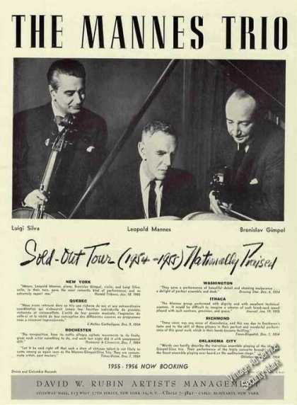 The Mannes Trio Group Photo Trade (1955)