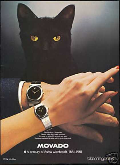 Black Cat Movado L'Imperiale Watch Photo (1981)