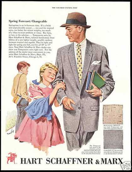 Hart Schaffner & Marx Fashion Girl Boy Man (1954)