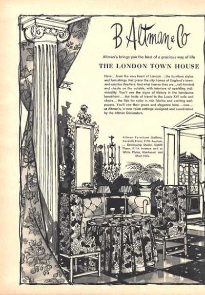 B Altman & Co London Town House Furnishings (1964)
