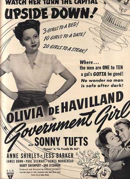 Government Girl (Olivia DeHavilland, Sonny Tufts, Anne Shirley, Jess Barker) (1943)