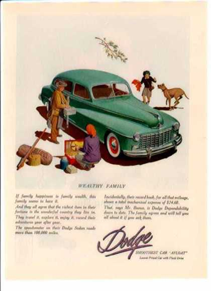 Dodge Car – Wealthy Family (1948)