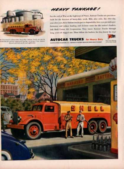Autocar Trucks Shell Gas Station Delivery Truck (1945)