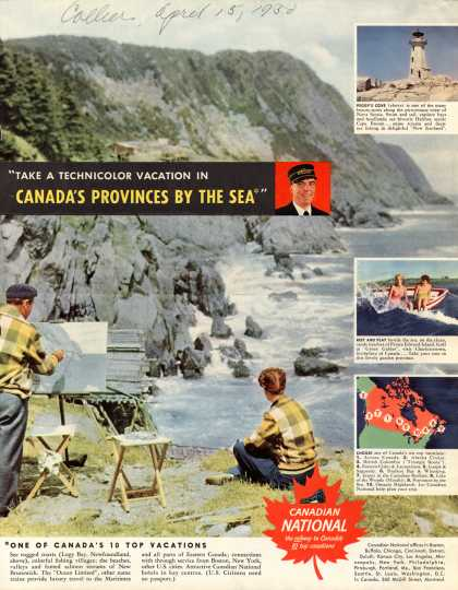 "Canadian National Railways – ""Take a Technicolor Vacation in Canada's Provinces By the Sea"" (1950)"