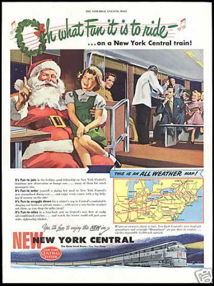 Santa New York Central Train Railroad (1948)