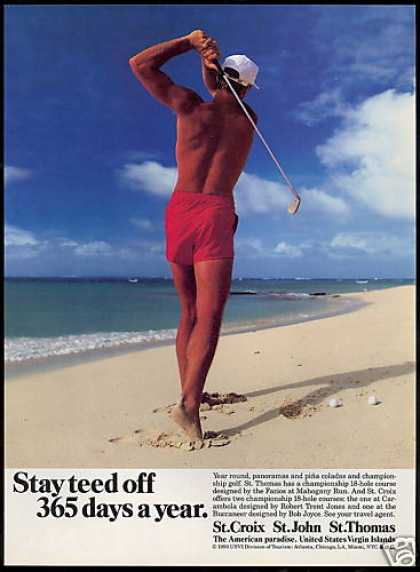 US Virgin Islands Travel Golf Beach Teed Off (1991)