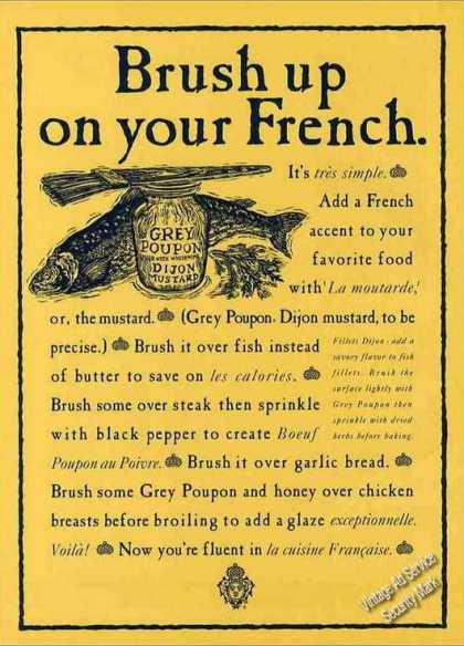 "Grey Poupon Dijon Mustard ""Brush Up On French"" (1992)"