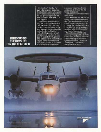 Grumman E-2C Hawkeye Early Warn Aircraft Photo (1985)