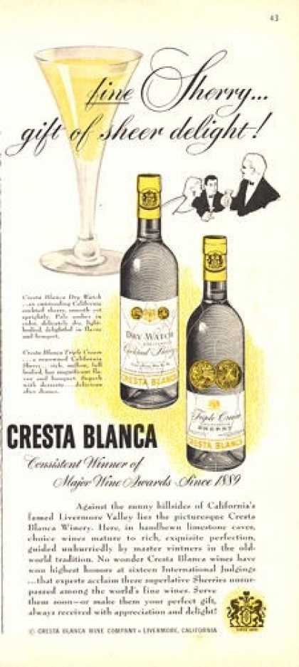 Cresta Blanca Sherry Bottle (1950)