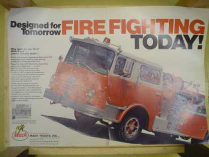 Mack Fire Trucks. Designed for tomorrow Allentown PA The fire truck capital of the world (1969)
