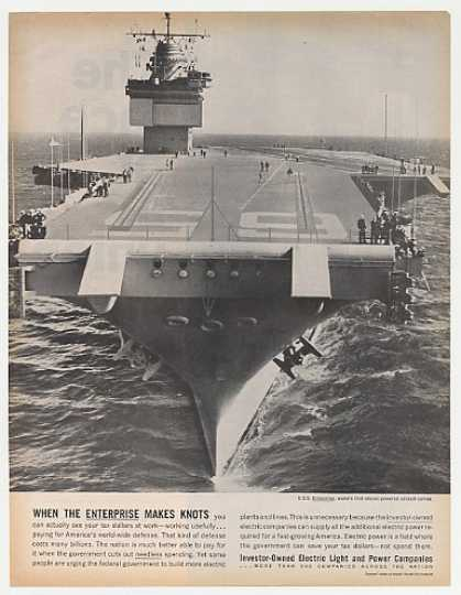 USS Enterprise Photo Investor-Owned Electric (1962)