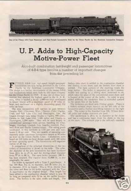 """Up Adds To High Capacity Motive Power Fleet"" (1939)"