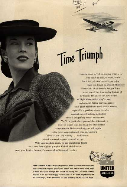 United Air Line's Mainliner – Time Triumph (1945)