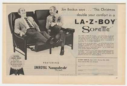 Jim Backus La-Z-Boy Naugahyde Sofette Sofa (1970)