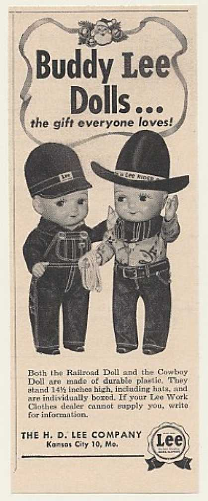 H D Lee Co Buddy Lee Railroad Cowboy Doll (1952)