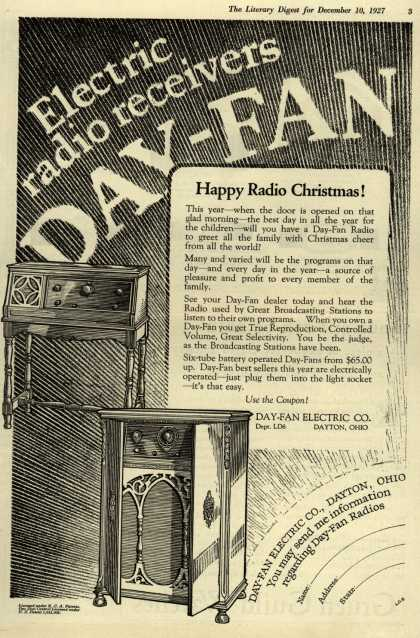 Day-Fan Electric Co.'s Radio – Electric radio receivers DAY-FAN (1927)