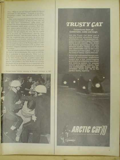 Arctic Cat snowmobiles snow machines. Trusty Cat (1969)