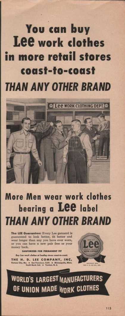 Lee Work Clothing Dept (1950)